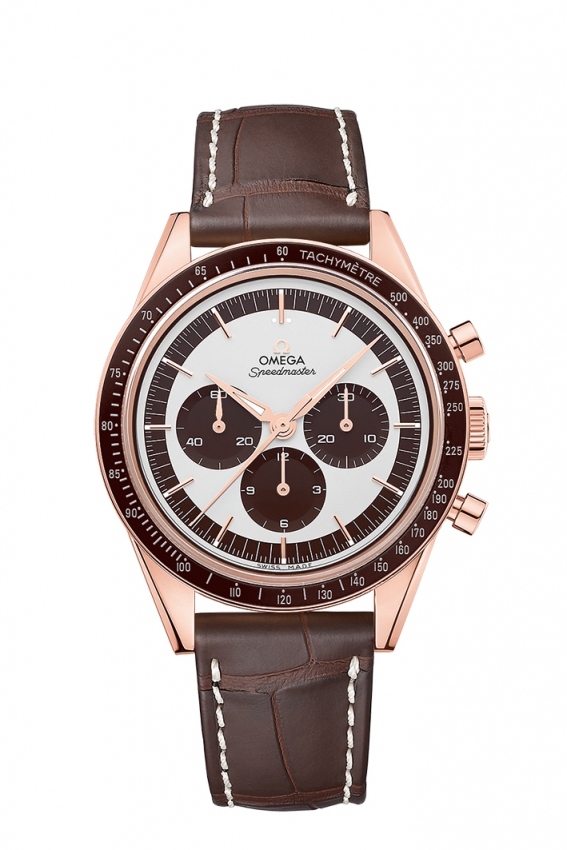 This Speedmaster is created to pay tribute to the original model that Wally Schirra wore when entering the space.
