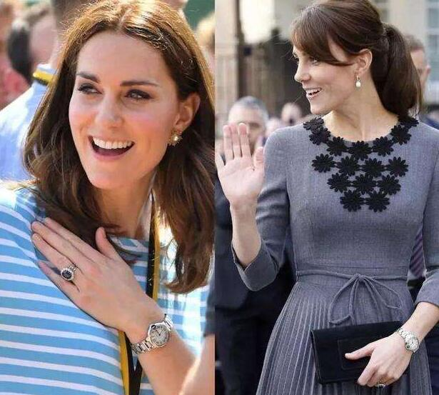 The princess Kate often wore her Ballon Bleu de Cartier to attend the activities.