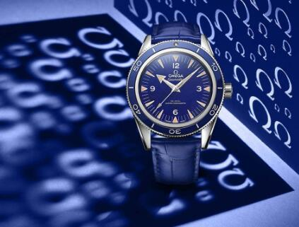 The unique Omega Seamaster watches are eye-catching with the bright dial.