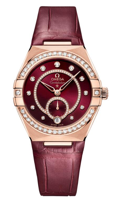 Swiss reproduction watches are corresponding with burgundy dials and burgundy leather straps.