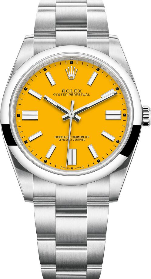 Swiss replication watches are bright for yellow color.